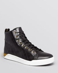 Diesel Tempus Diamond Quilted Leather High Top Sneakers - Lyst