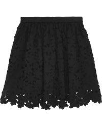MSGM Cutout Stretch-Satin Jersey Mini Skirt - Lyst