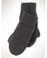 Ralph Lauren Wool-Cotton Mittens - Lyst