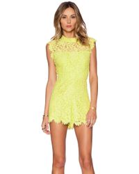 Alexis X Revolve Lucia Lace Romper - Lyst