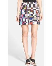 Milly Print Skirt - Lyst