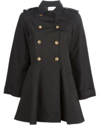 RED Valentino Wide Sleeve Trench Coat - Lyst