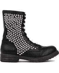 Akira Studded Combat Boots - Lyst