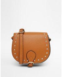 Carvela Kurt Geiger Studded Mini Saddle Bag - Brown