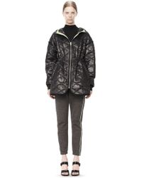 Alexander Wang Quilted Nylon Hooded Jacket - Lyst