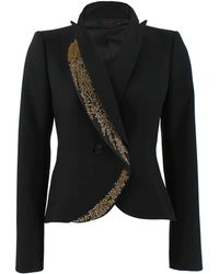 L'Wren Scott - Gold Embroidered Detail Blazer - Lyst
