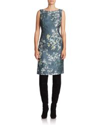 Lafayette 148 New York Faith Floral Silk-Blend Dress floral - Lyst
