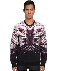 Just Cavalli Night Vibe Placed Sweatshirt - Lyst