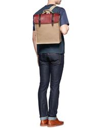 Seventy Eight Percent - Leather Canvas Backpack - Lyst