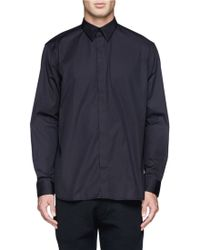 Givenchy Back Band Cotton Poplin Shirt - Lyst