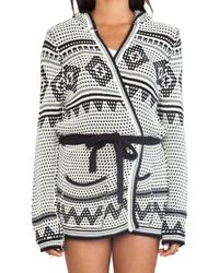 Chaser Black Hooded Cardigan - Lyst