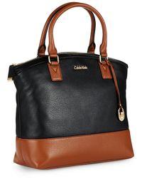 Calvin Klein Colorblocked Satchel Bag - Lyst