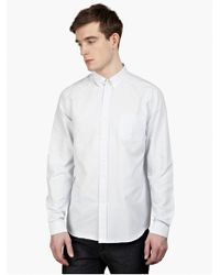 AMI Men'S Striped Slim-Fit Cotton Shirt - Lyst