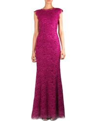 Dolce & Gabbana Fishtail Lace Gown pink - Lyst