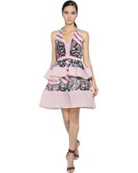 Peter Pilotto Ruffled Organza & Brocade Dress - Lyst