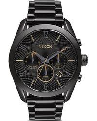 Nixon 'Bullet Chrono' Watch black - Lyst