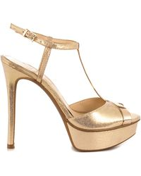 Jessica Simpson Gold Carys - Lyst