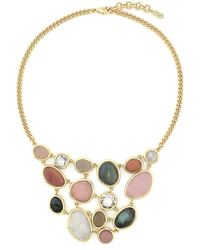 """Cole Haan - Knotted 9-10mm Freshwater Pearl & Logo Bead 50"""" Necklace - Lyst"""