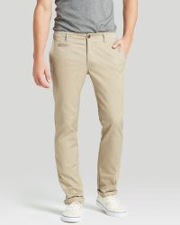 Wings + Horns Wings + Horns Westpoint Twill Dress Slim Fit Chino Trousers - Natural