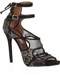Tabitha Simmons Silver Linings Collection Bailey Lace Sandal - Lyst