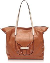 Francesco Biasia - Kensington Large Leather Tote Bag - Lyst