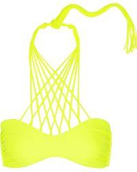 Mikoh Kahala Neon Crossover String Bikini Top - Lyst