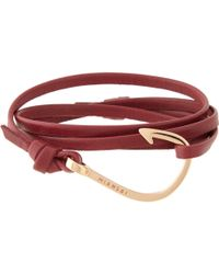 Miansai Leather Wrap Bracelet With Hook - Lyst