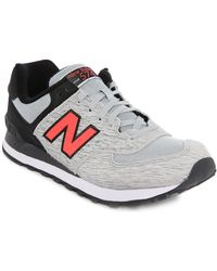 New Balance | gray 574 Grey-black Suede Sneakers | Lyst