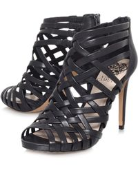 Vince Camuto Farica High Heeled Strappy Court Shoes - Black
