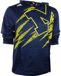 Adidas Mens Michigan Wolverines Aftershock Pu Hoodie - Lyst