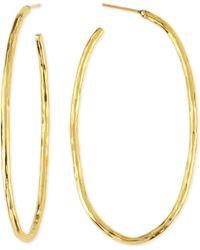 Herve Van Der Straeten Epure 24K Gold-Plated Simple Tube Hoop Earrings - Lyst