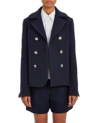 Paco Rabanne Cropped Peacoat - Lyst