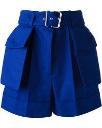 Alexander McQueen Belted Shorts blue - Lyst