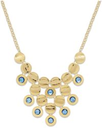Style & Co. - Style&co. Gold-tone Blue Circle Cluster Bib Necklace - Lyst