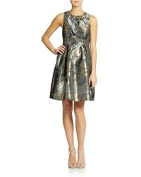 Eliza J Embellished Metallic Print Dress - Lyst