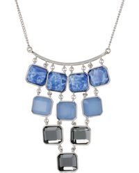 Kenneth Cole Blue Mood Reconstituted Lapis Bib Necklace