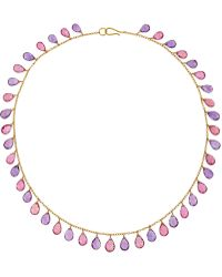 Munnu - 22-Karat Gold, Amethyst And Tourmaline Necklace - Lyst