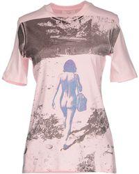 Celine T-Shirt pink - Lyst