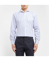 Turnbull & Asser White Striped Cottonpoplin Shirt - Lyst