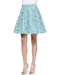 Alexis Edi Floral-Lace Full Skirt - Lyst