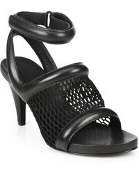 Alexander Wang Leah Leather & Mesh Sandals - Lyst