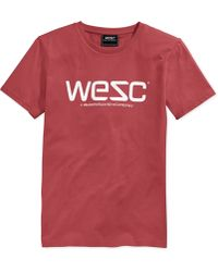 Wesc Logo Graphic T-Shirt red - Lyst
