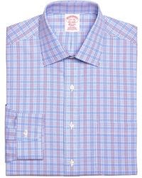 Brooks Brothers Noniron Traditional Fit Triple Check Dress Shirt - Lyst