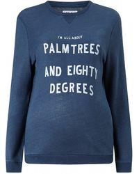 Zoe Karssen | Palm Trees & Eighty Degrees Sweatshirt | Lyst