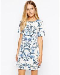 Oasis Botanical Shift Dress - Lyst