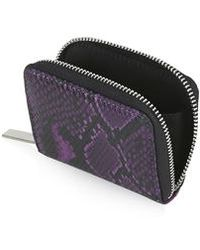 Topshop Snake-Effect Mini Purse - Lyst