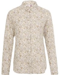 Uniqlo - Betsy Grey Printed Premium Linen Shirt - Lyst