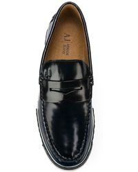 Armani Jeans - Bi-colour Sole Penny Loafers - Lyst