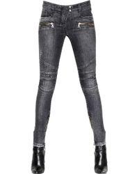 Balmain Stretch Cotton Denim Jeans - Lyst