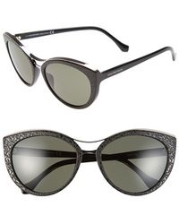 Balenciaga 'Ba0033' 57Mm Cat Eye Sunglasses black - Lyst